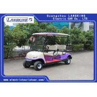Wholesale Sponge + Artificial Leather Seats Electric Golf Carts / 4 Passenger Golf Cart With Roof from china suppliers
