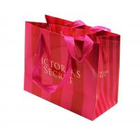 custom printed striped paper shopping bags manufacturer with handle for sale