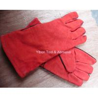 "Wholesale 13"" Red color Leather Welding Gloves from china suppliers"