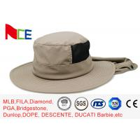 Wholesale Joint Khaki Fishman Bucket Hat Protect neck from sunburn With Adjustable from china suppliers