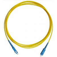 Wholesale Communication SC 9 / 125 Fiber Optic Patch Cord Single Mode Duplex Antirust from china suppliers