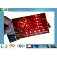 China SMT Circuit With LED  Backlight Illuminated Embossing Key Membrane Switch on sale