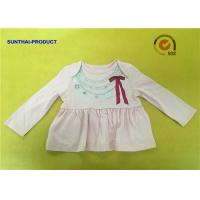 Fashion Necklace Screen Print Tee  Long Sleeve Envelop 100% Cotton Baby Girl Top for sale