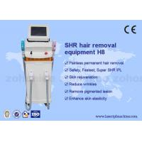 Wholesale Vertical SHR Hair Removal Machine 510-1200nm Wavelength Manual Training from china suppliers
