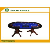Quality Professional Casino Texas Holdem Poker Table Solid Wooden Legs for sale
