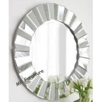 Wholesale Full Beveled Wall Mirror Decor , Framless 3D Decorative Round Wall Mirrors from china suppliers