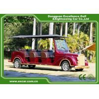 Luxurious Red G1S8 Electric Classic Cars 4 Row For 8 Passenger for sale