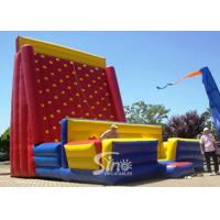 Wholesale Giant Rock Mountain Inflatable Climbing Wall For Outdoor Adults N Kids Interactive inflatable equipments from china suppliers