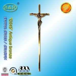 56.7*15.8cm Catholic  Zinc Cross For metal Coffin Decoration D045 zamak crucifix European style antique bronze