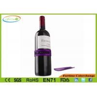 Wholesale Flexible Band Fits Any Size Bottle Purple Wine Bottle Snap Thermometer 4-22℃ from china suppliers