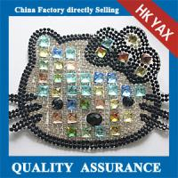 Wholesale D0930 Shiny crystal lovely applique for baby clothes;small size applique for baby clothes from china suppliers
