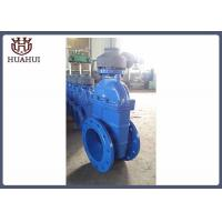 DIN3352 DN400 resilient seated gate valve with gear box F4 type PN16