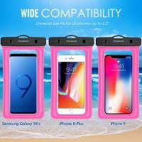 Wholesale Full Protection Floatable Waterproof Phone Case Dry Bag With Detachable Lanyard from china suppliers