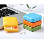 China High Quality 2 Compartments Plastic Pill Box & Travel Portable Mini Pill Box,Pill Case Storage for sale
