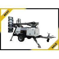 Quality LED Galvanized Mobile Light Tower Watercooled Naturally Aspirated Regular Emission Level for sale