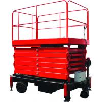 Wholesale Motorized scissor lift with loading capacity 450Kg and 6m Platform Height with Optional Extension from china suppliers