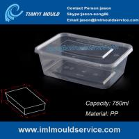 Wholesale PP 750ml clear thin wall rectangular plastic containers mould manufacturer and supplier from china suppliers