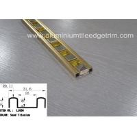 Wholesale Rust Proof Glass Mosaic Tile Trim Edge Listello Bar Polished Gold Aluminium from china suppliers