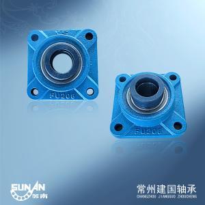 Square Cast Iron Pillow Block Bearing With Eccentric Bushing HCFU206 / UELFU206