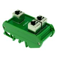 China RJ45 8P8C Female Jack  Extension Cable Adapter Splitter Buss Board Din Rail on sale