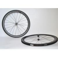 Wholesale V Shape Bicycle Clincher Wheelset , Road Bike Disc Wheels Tubeless Compatible from china suppliers