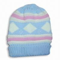 Wholesale Acrylic Knitted Jacquard Women's Hat without Lining from china suppliers