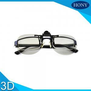 Best Clip Type Plastic Circular Polarized 3d Glasses For Tvs , Anti Glare wholesale