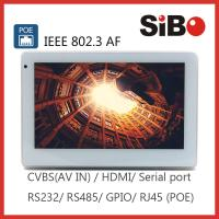 China Industrial Grade 7 Inch 1024*600 IPS Wall Mount Android POE Touch Screen For Building Management System on sale