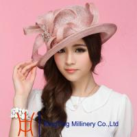 Wholesale Purple / Red roach Ladies Sinamay Hats In Summer For Outing from china suppliers