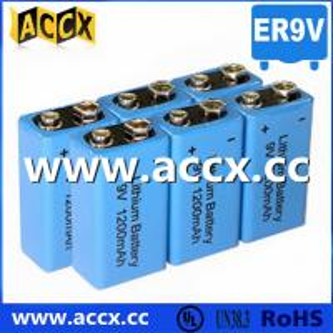 China 9V battery 1200mAh smoke detector battery, fire detector battery, long self life 10 years on sale