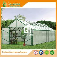 Quality Aluminum Greenhouse-Titan series-1006X406X273CM-Green/Black Color-10mm thick PC for sale