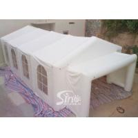 Wholesale 10x6m big movable house white wedding party inflatable tent with big entrance make with pvc tarpauline from china suppliers