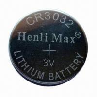 Wholesale CR3032 Lithium Button-cell Battery with 550mAh Nominal Capacity from china suppliers
