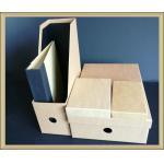China Office products eco-friendly  kraft  paper 5 pcs desk organizer set storage set for sale