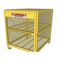Wholesale Yellow Color Gas Cylinder Cages Pad Lockable Easily Assembled / Dissembled from china suppliers