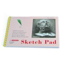 China White Paper Pencil Sketch Pad Drawing Book , Spiral Sketch Drawing Pad for sale