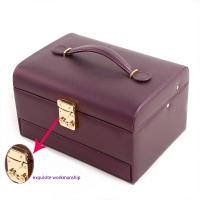 China Handled Portable Jewelry Holder , Unique Decorative Storage Boxes Easy To Take for sale