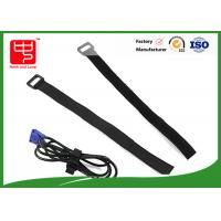 Wholesale 200 * 20MM Black logo printing hook and loop straps 100% nylon good hand feel from china suppliers