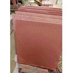 China Red Sandstone natural sawn cut bushhammered honed tile slabs for sale