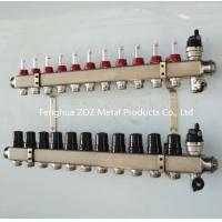 ZZ18858 Pre-assembled floor heating manifold with flow meters , Radiant Heat Manifold Assembly