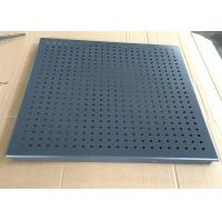 Wholesale Grey Color Clip Perforated Metal Ceiling , Perforated Acoustic Panels Dia 3.0mm from china suppliers