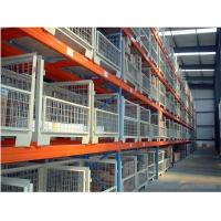 Powder Coating 3-5 Levels Heavy Duty Racking With Steel Plate Decking