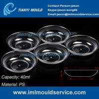 Wholesale 40ml ps clear disposable plastic dessert plate mould/disposable plastic party plates mould from china suppliers