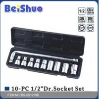 China steel with chromed material 10pcs Socket Wrench Set hand tool for sale