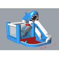 Wholesale 2.72x3.58x2.85mH Inflatable Bounce House Water Slide Shark Shape from china suppliers
