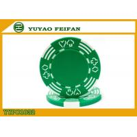 Best Poker And Hearts Style Two Solid Color Mold Customized Clay Poker Chips wholesale