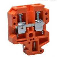 Quality Wire terminal din rail screw type looking orange using NS32/16 din rail for sale