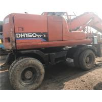 Wholesale used wheel excavator  DH150W-7 wheel excavator/secondhand doosan wheel excavator 130-5 tyre excavator from china suppliers