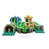 China The Lost Jungle inflatable obstacle course WSP-295/Theme combination of forest animal exploration for sale