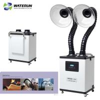 Buy cheap White Digital Display Two Tubes 110v Fume Extractor For Medical Fume And Beauty from wholesalers